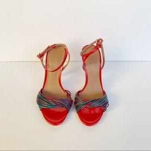 Zara red patent heels